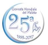 11 FEBBRAIO 2017: XXV GIORNATA MONDIALE DEL MALATO