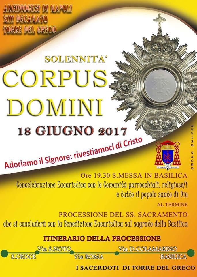 SOLENNITA' DEL CORPUS DOMINI 2017
